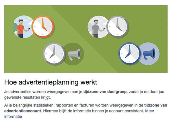 Facebook adverteren - Hoe werkt advertentieplanning