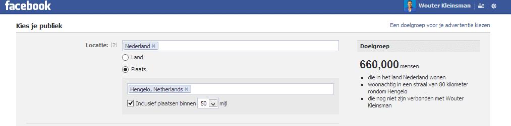Facebook marketing advertenties