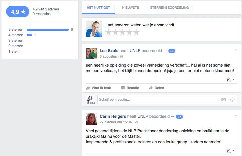 Facebook referenties marketing