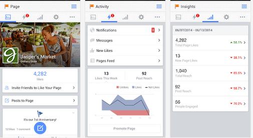 Facebook paginabeheer - applicatie