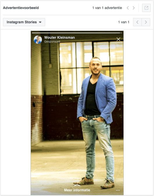 Testen van Instagram stories ads