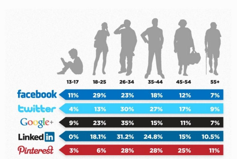 Social Media Demografische gegevens Nederland