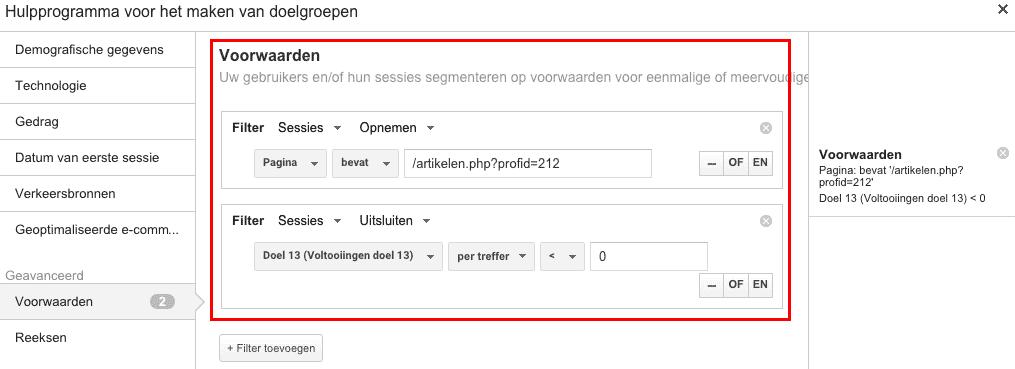 google-analytics-remarketing-filter-doelen