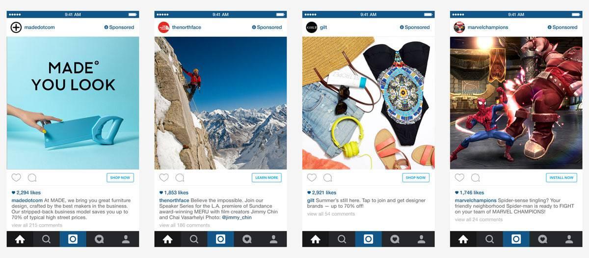 instagram adverteren voorbeelden