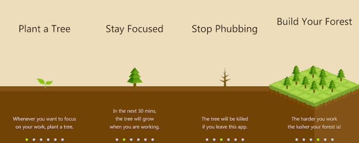 persoonlijke effectiviteit - app forest