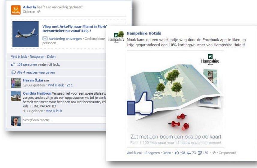 Facebook sponsored story
